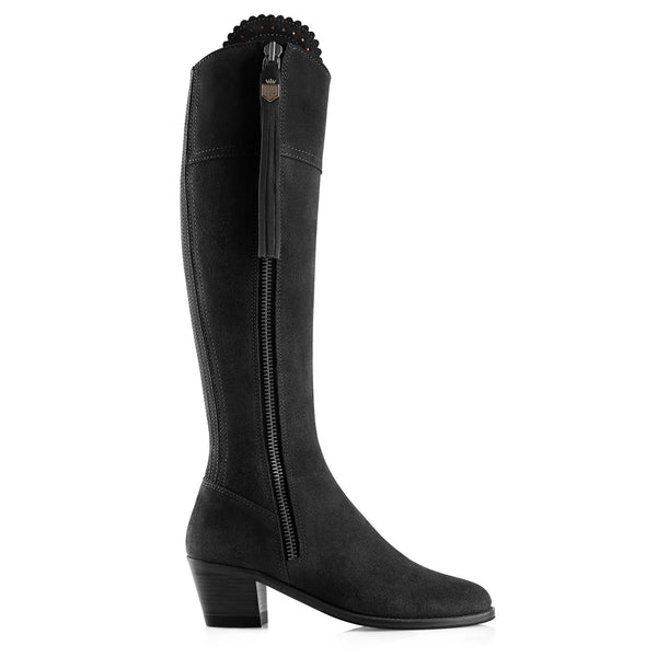 Fairfax & Favor Regina Boot (Heeled) - Black - Lucks of Louth