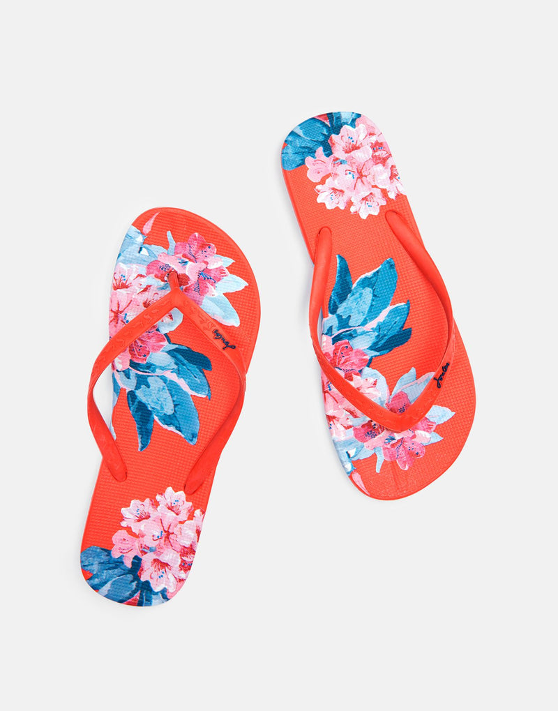 Joules Flip Flop - Red Floral - Lucks of Louth
