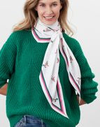Joules Asher Diamond Shaped Scarf - Cream Mallards - Lucks of Louth