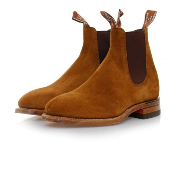 RM Williams Adelaide Chelsea Boot (L)- Tobacco Suede - Lucks of Louth