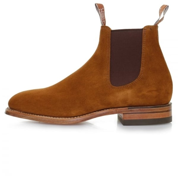 RM Williams Adelaide Chelsea Boot - Tobacco Suede - Lucks of Louth