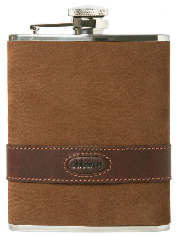 Dubarry Rugby Hip Flask - Walnut - Lucks of Louth