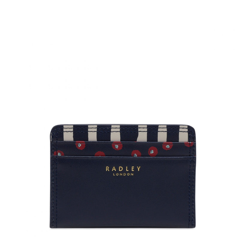 Radley Hello Lovely Small Card Holder - Dark Blue - Lucks of Louth