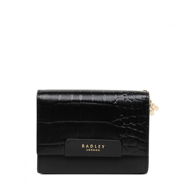 Radley London Arlington Court Medium Flap-over Purse - Black - Lucks of Louth