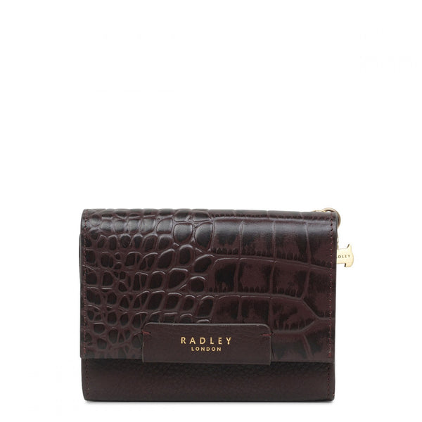 Radley Arlington Court Faux Croc Purse - Oxblood - Lucks of Louth
