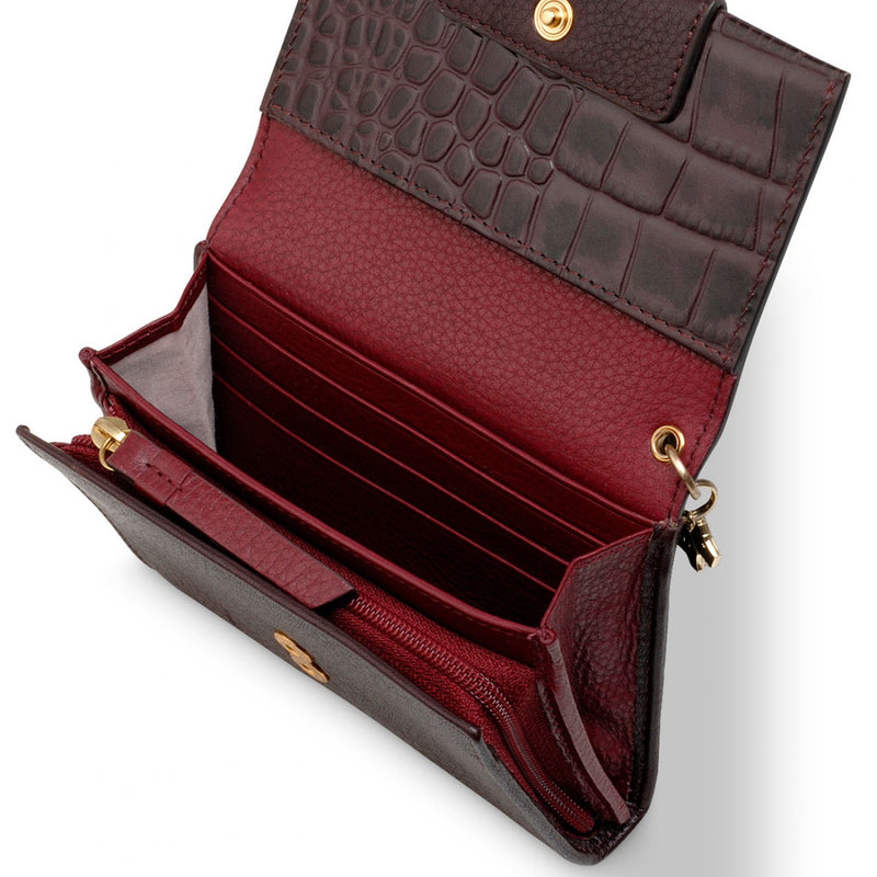 Radley London Arlington Court Faux Croc Purse - Oxblood - Lucks of Louth