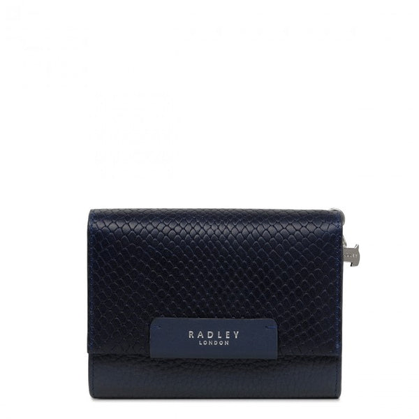 Radley London Arlington Court Faux Lizard Medium Flap-Over Purse - Dark Blue (Ink) - Lucks of Louth