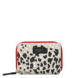 Radley London Leopard Oilskin Medium Purse - Light Grey - Lucks of Louth