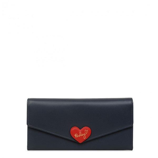 Radley I Love You Large Flapover Matinee Purse - Dark Blue - Lucks of Louth