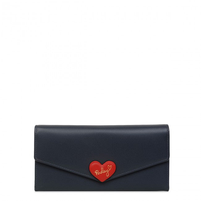 Radley London I Love You Large Flap-over Matinee Purse - Dark Blue - Lucks of Louth