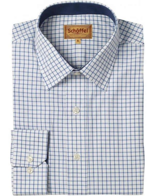 Schoffel Cambridge Shirt - Navy - Lucks of Louth