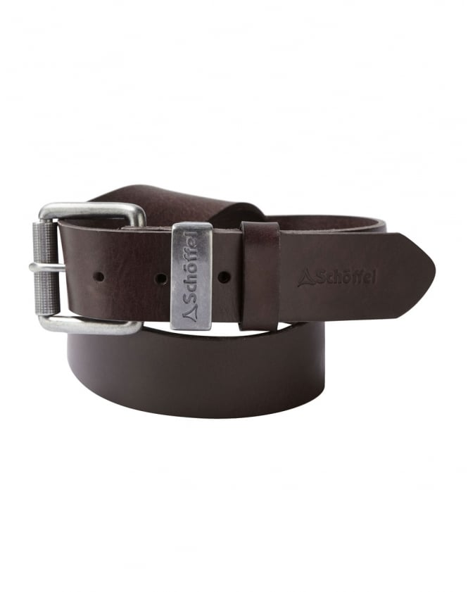 Schoffel Leather Belt - Dark Brown - Lucks of Louth