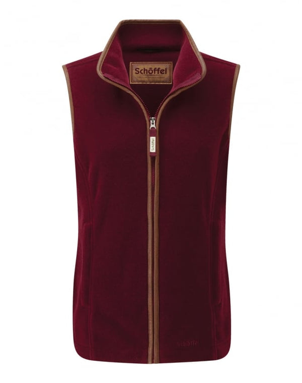 Schoffel Lyndon II Fleece Gilet - Ruby - Lucks of Louth