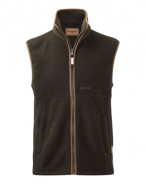 Schoffel Oakham Fleece Gilet - 6690 Dark Olive - Lucks of Louth