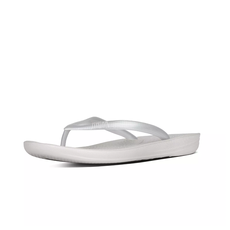 Fitflop IQushion Ergonomic Flip-Flops - Silver - Lucks of Louth