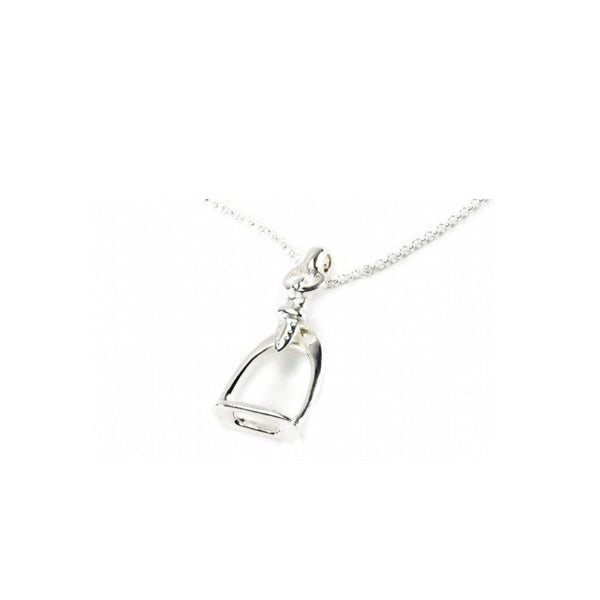 Hiho Silver Sterling Silver Small Stirrup Pendant - Lucks of Louth