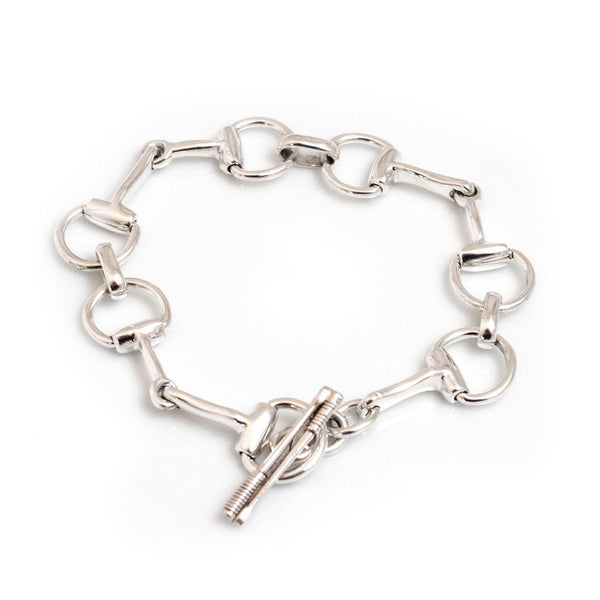 Hiho Silver Sterling Silver Snaffle Bracelet - Lucks of Louth