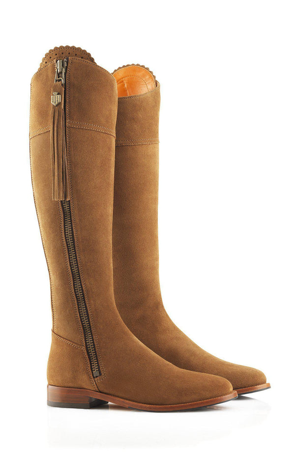 Fairfax & Favor Regina Boot (Flat) - Sporting Fit - Tan - Lucks of Louth