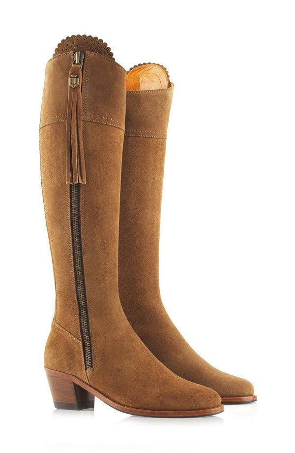 Fairfax & Favor Regina Boot (Heeled) - Tan - Lucks of Louth