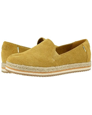 TOMS Palma Shoes - Amber Gold Suede - Lucks of Louth