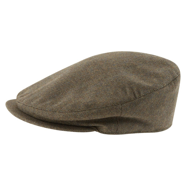 Schoffel Tweed Classic Cap - Loden Green Herringbone Tweed - Lucks of Louth