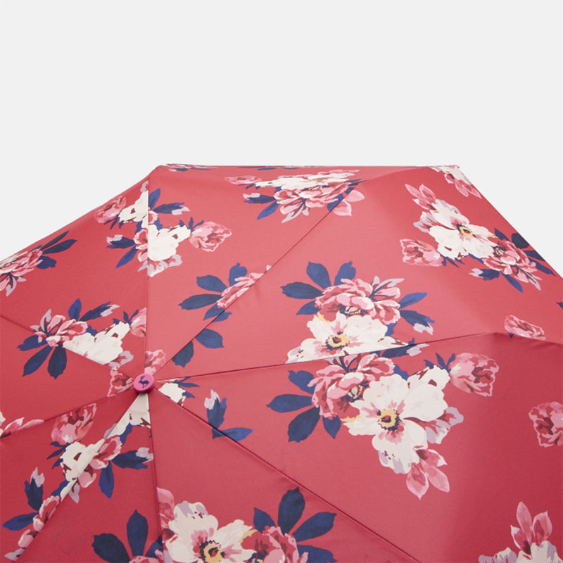 Joules Minilite Umbrella - Raspberry Bircham Bloom - Lucks of Louth