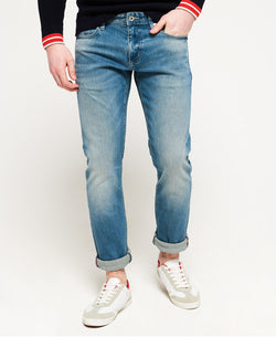 Superdry Slim Jeans - Ocean Blue Used - Lucks of Louth