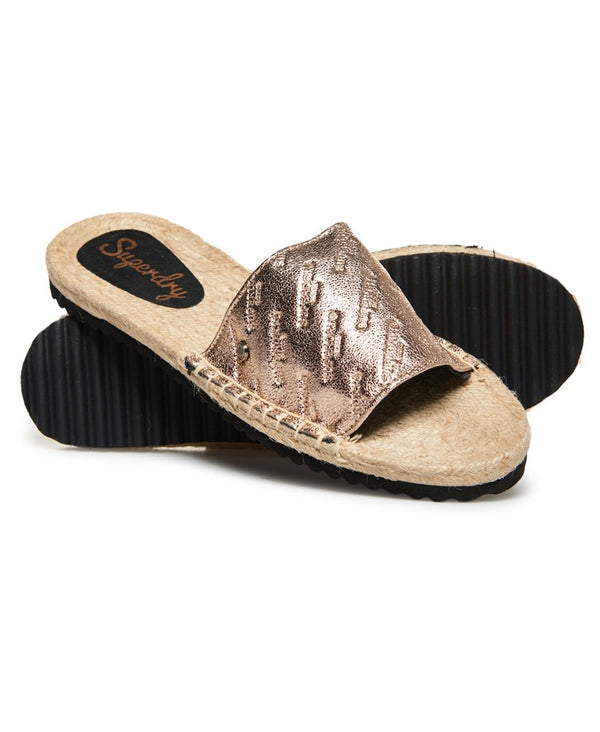 Superdry Maya Espadrille Slide - Rose Gold Crackle - Lucks of Louth