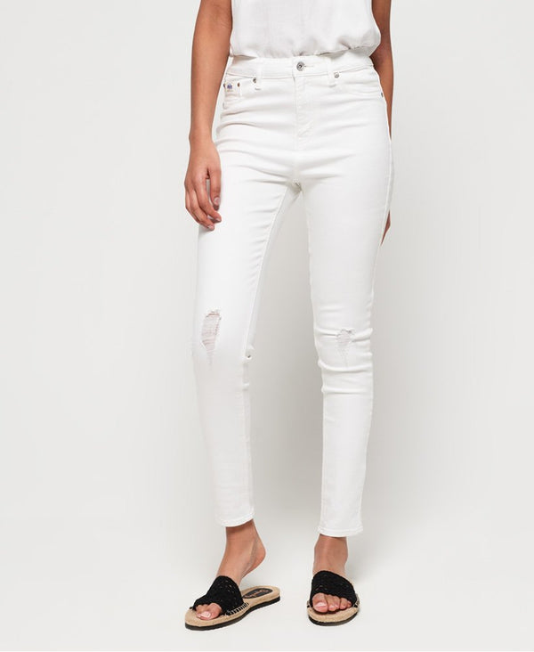 Superdry Sophia Skinny Jeans - Optic White - Lucks of Louth