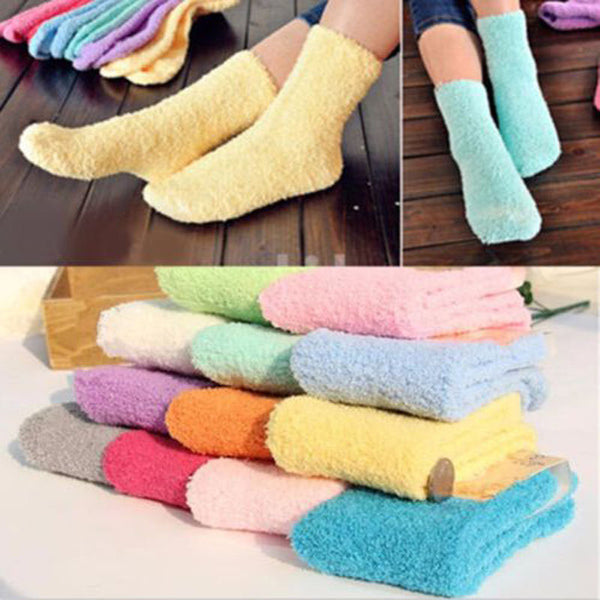 Very soft fuzzy socks