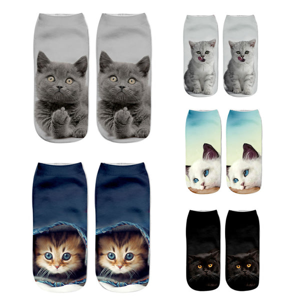Adorable cat and dog socks!