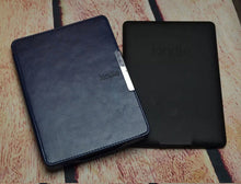 Smart slim leather cover with magnet closure case for Amazon kindle paperwhite 1/2/3  2nd 3nd ebook/ereader+film+Stylus