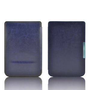 Protective Smart  Leather Cover Case Skin For Pocketbook basic touch lux 614 624 626 ereader case+screen protector