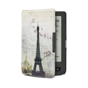 New arrival high quality leather cover case for Pocketbook basic touch lux 2 614/624/626/640 touch lux 3 pocketbook ereader