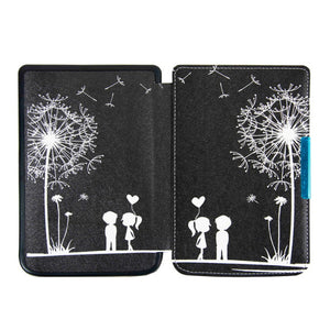 Silk printing book cover case for Pocketbook basic touch lux 2 614/624/626 pocketbook 626 plus ereader