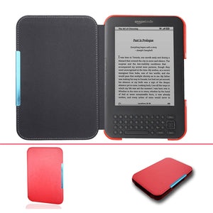 Ultra Slim leather Cover Case for Capa Amazon Kindle 3 3rd Gen Keyboard eReader Kindle3 Flip folio book Cover magnetic Case