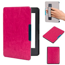 Magnet Folio PU leather smart cover case with hand grab cover for 2016 All-New Kindle (8th Generation 2016) ereader cover case