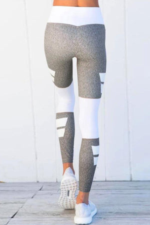 Gray Stripe Leggings