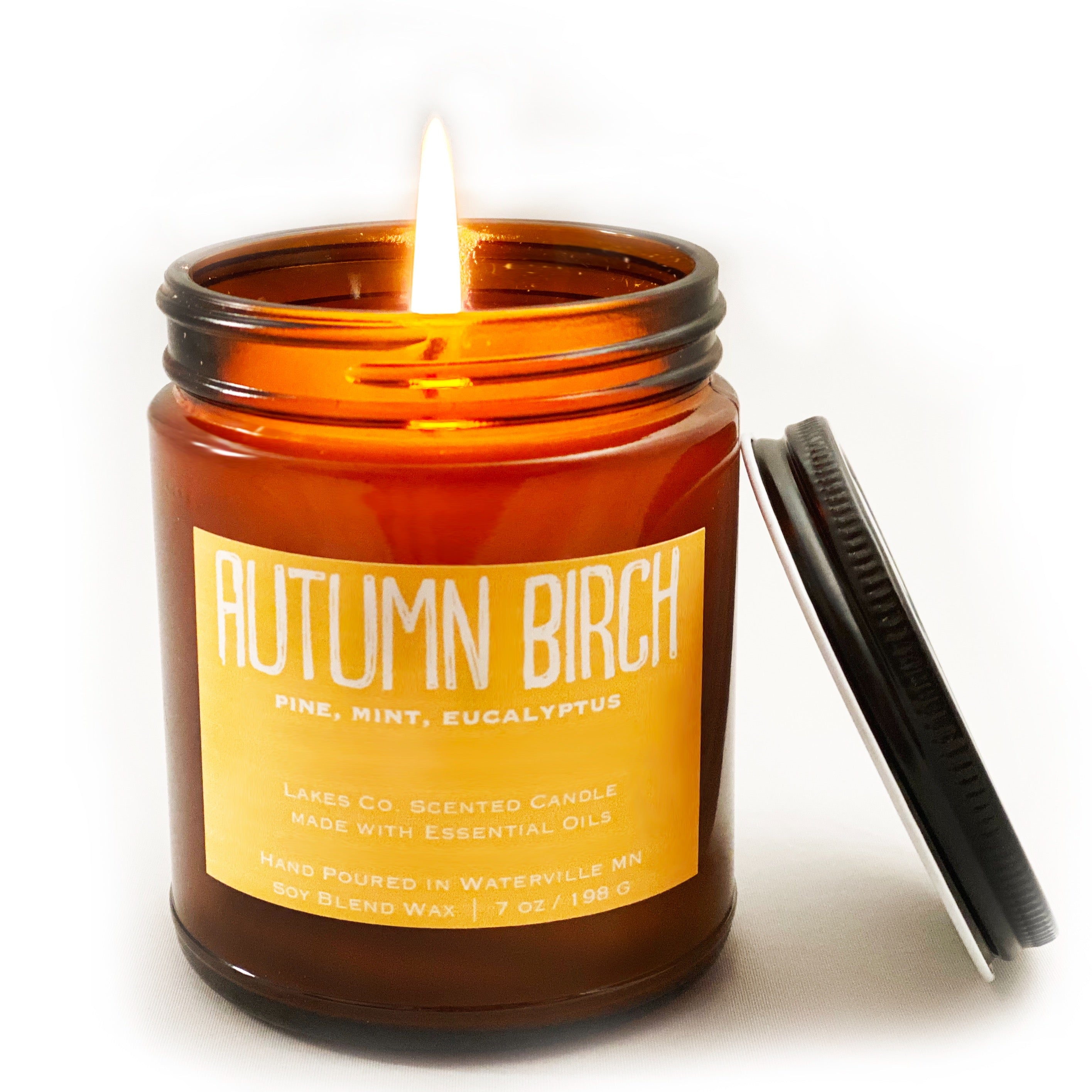 Autumn Birch Scented Candle By Lakes Company