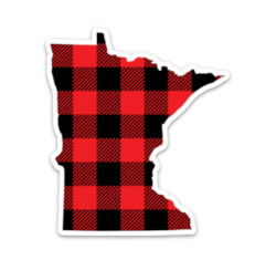 Lakes Company Buffalo Plaid Sticker
