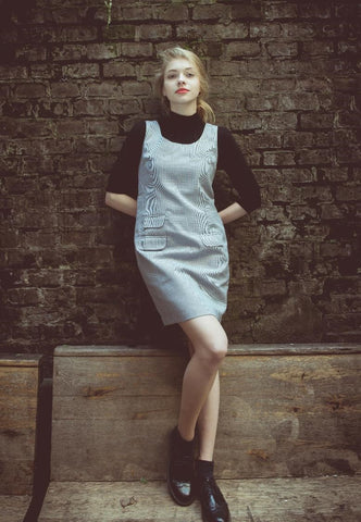 Womens vintage ska fashion dogtooth dress