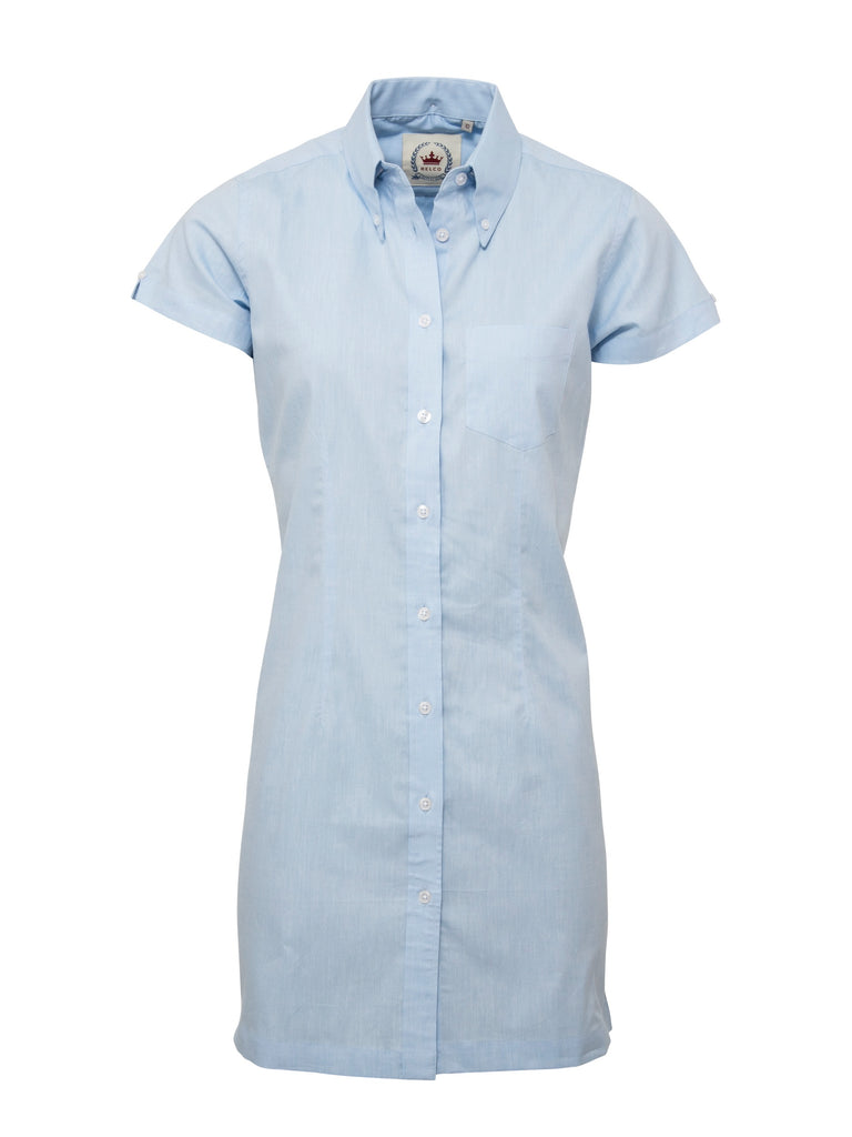 Ladies Long dress shirt - Oxford Blue