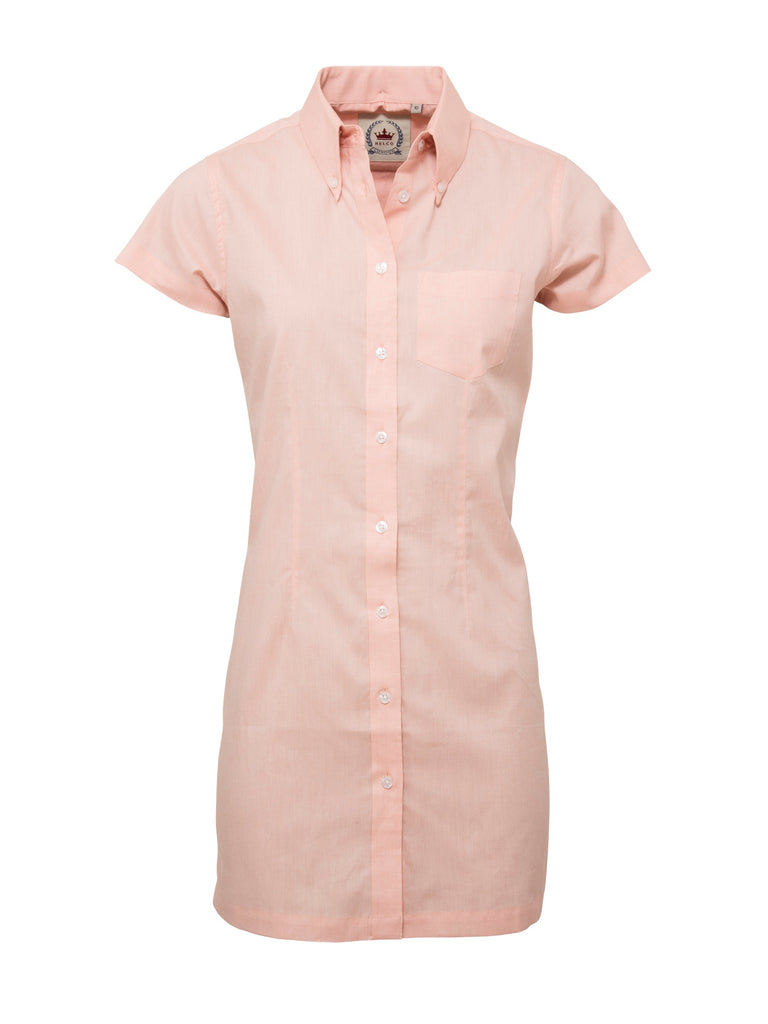 Ladies Long dress shirt - Oxford Peach