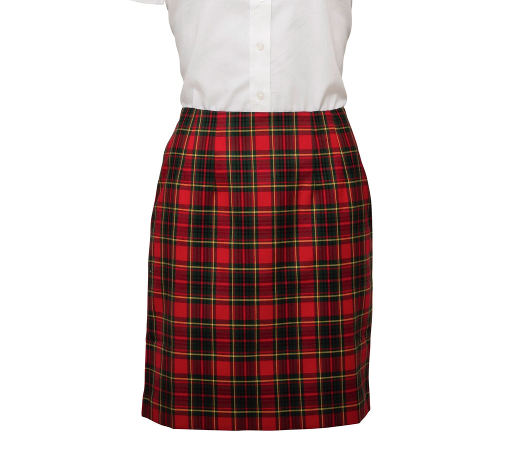 Ladies Red Tartan Skirt - Fully lined inside