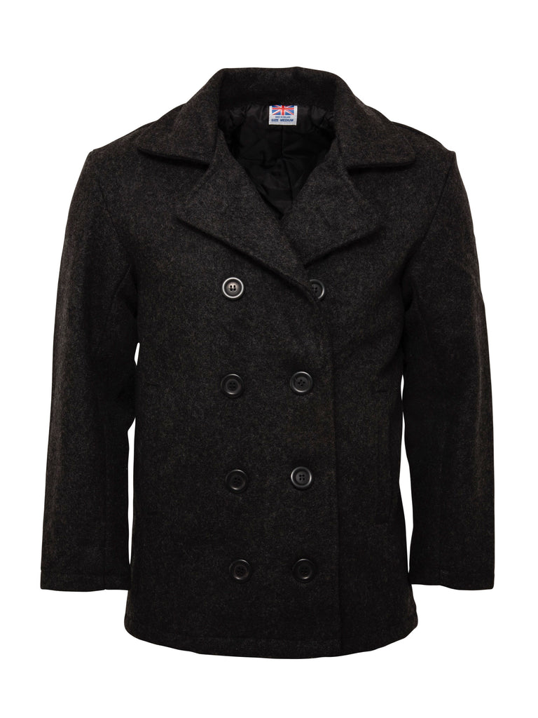Classic and Timeless Pea Coat - Grey