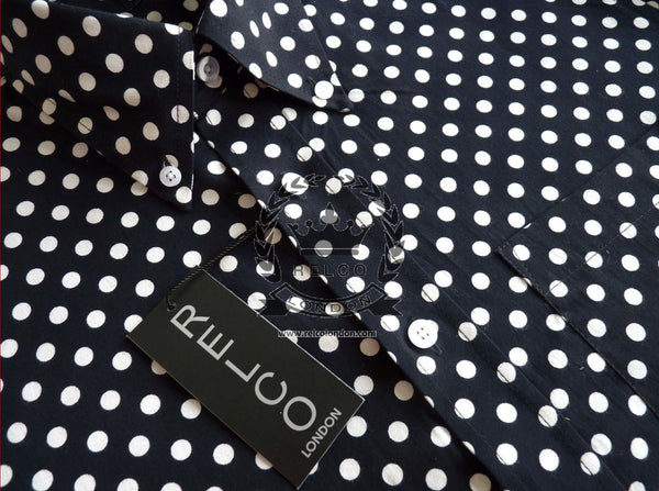 Men's Classic Polka Dot Vintage Shirt In 3 Colours - POLKA DOT
