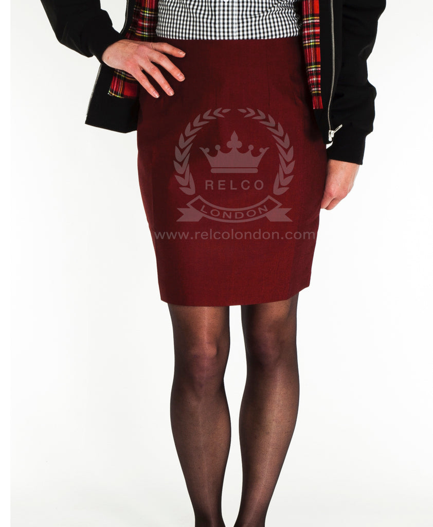 Vintage Tonic Skirt  - Burgundy
