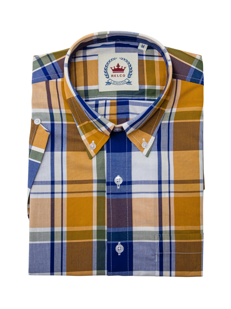 **NEW** Yellow Check Shirt- CK-43