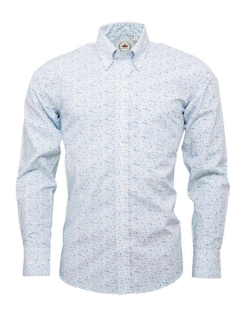 Men's White Floral shirt - Floral 16