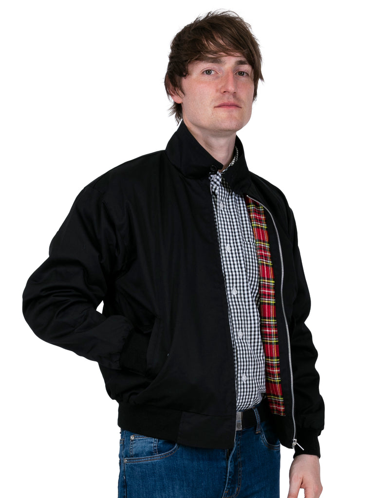 Black Vintage Harrington Jacket for Men